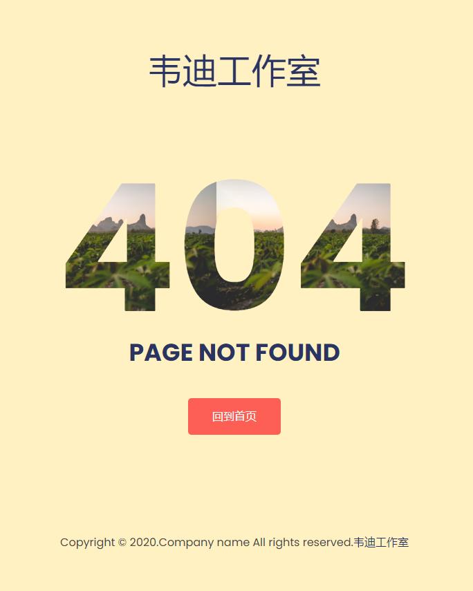 简约好看自适应404错误页面源码